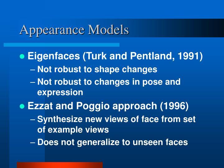 Appearance Models