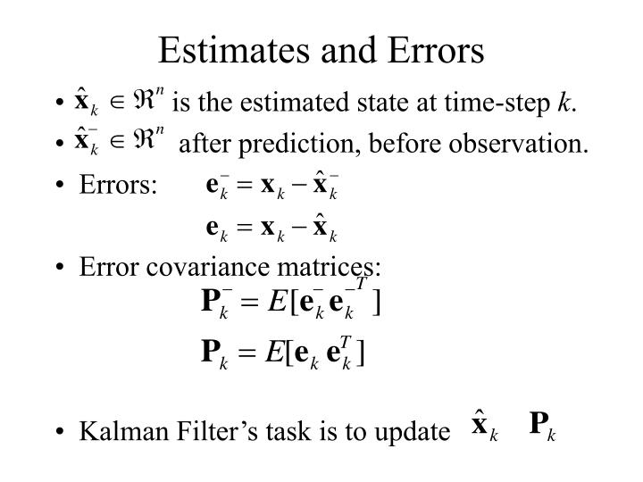Estimates and Errors