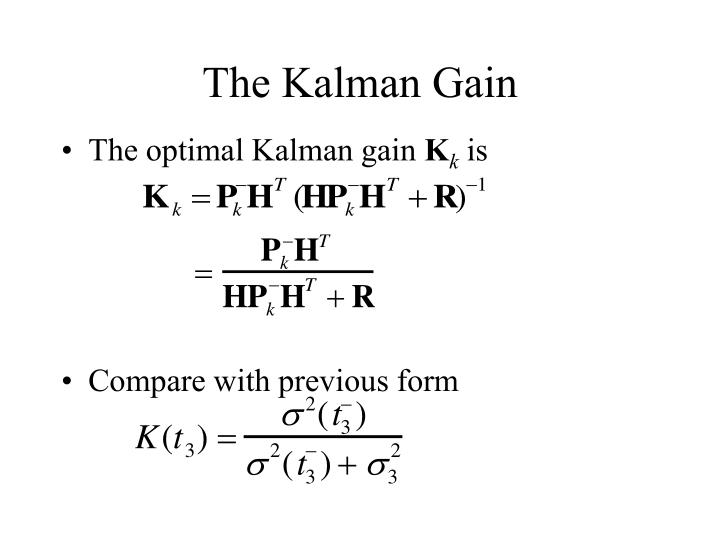 The Kalman Gain