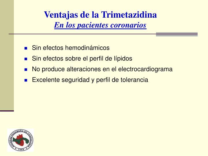 Ventajas de la Trimetazidina