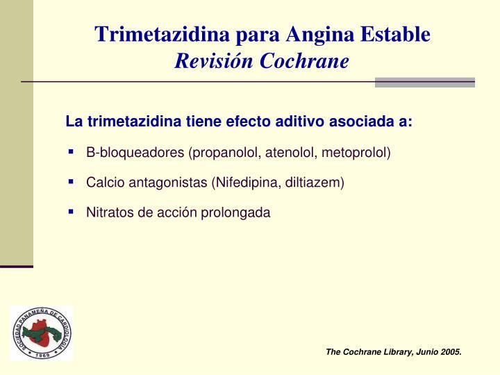 Trimetazidina para Angina Estable