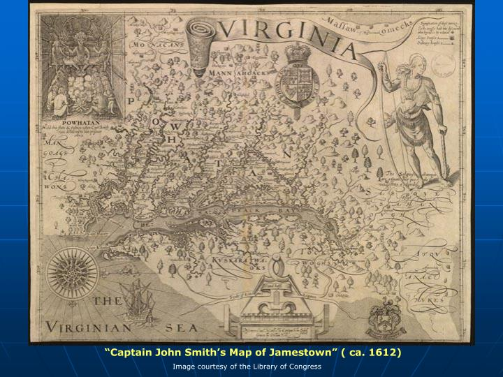 """Captain John Smith's Map of Jamestown"" ( ca. 1612)"