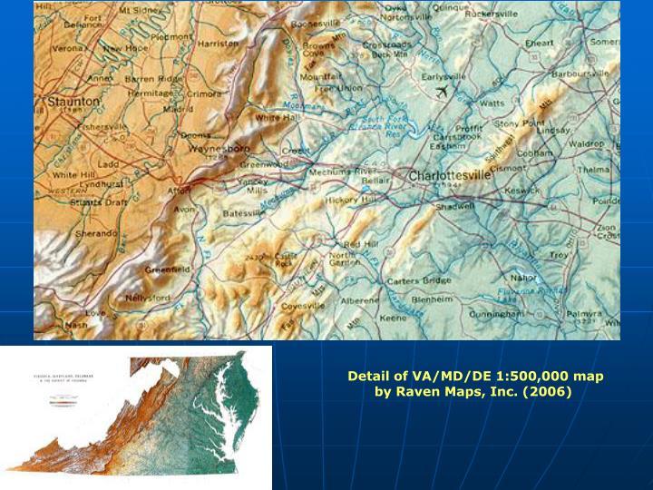 Detail of VA/MD/DE 1:500,000 map