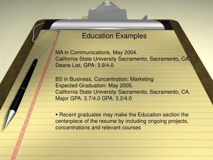 Education Examples