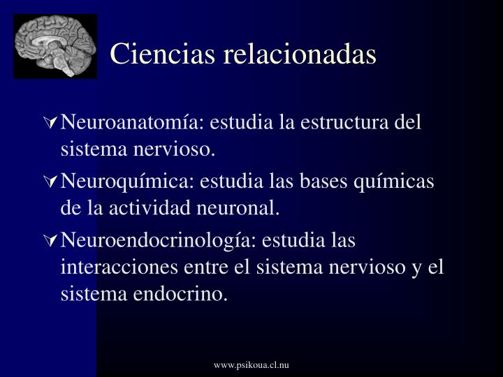 Ciencias relacionadas