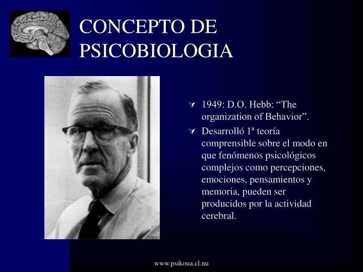 CONCEPTO DE PSICOBIOLOGIA