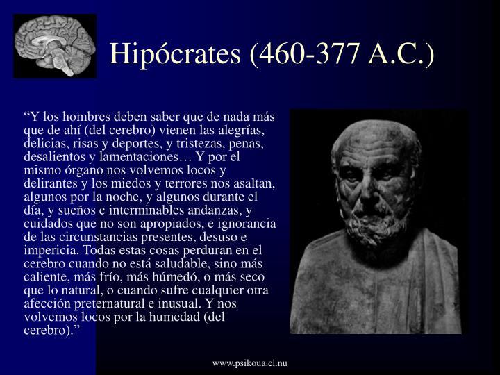 Hipócrates (460-377 A.C.)