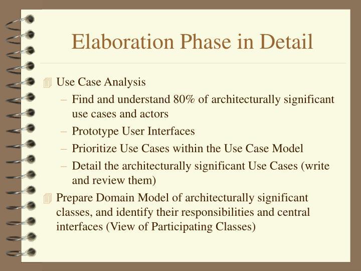 Elaboration Phase in Detail