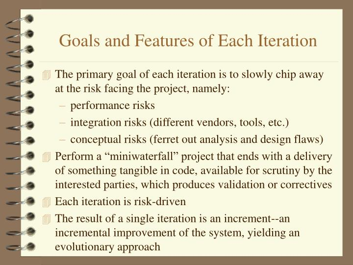 Goals and Features of Each Iteration