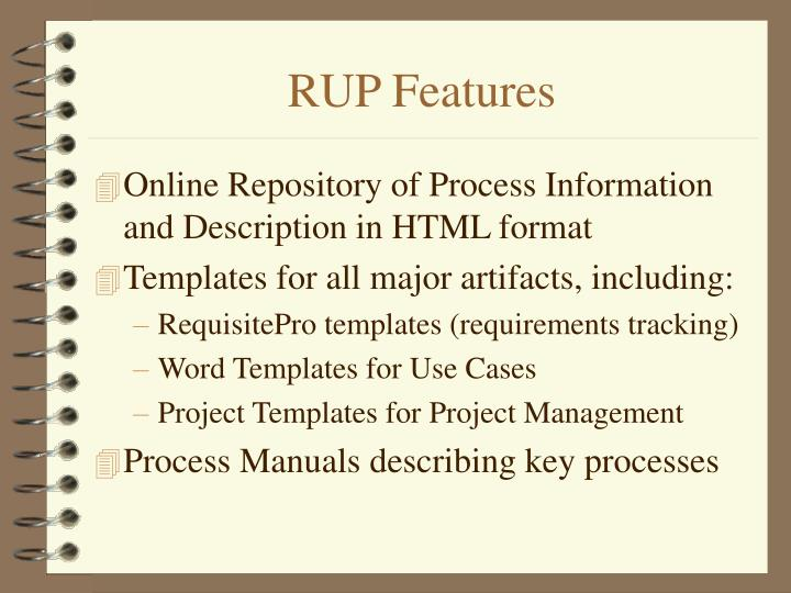 RUP Features