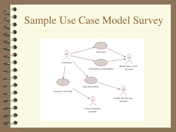 Sample Use Case Model Survey