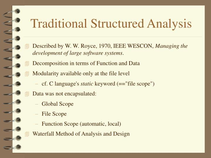 Traditional Structured Analysis