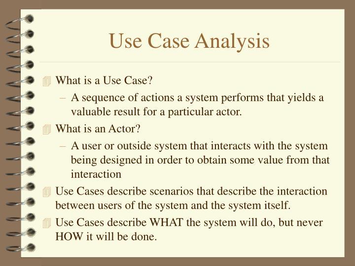Use Case Analysis