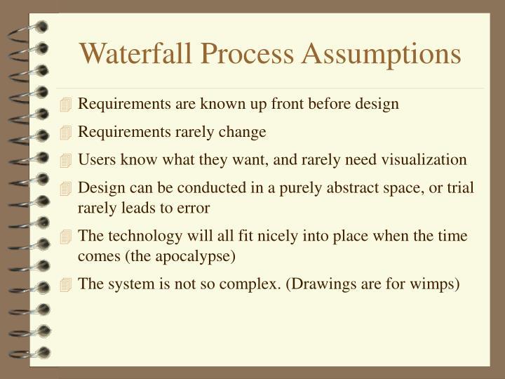 Waterfall Process Assumptions