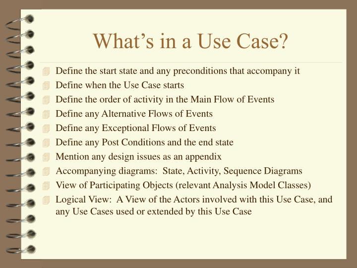 What's in a Use Case?