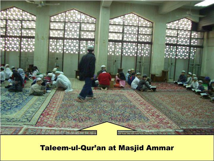 Taleem-ul-Qur'an at Masjid Ammar