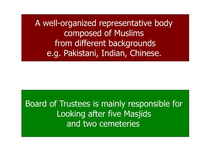 A well-organized representative body