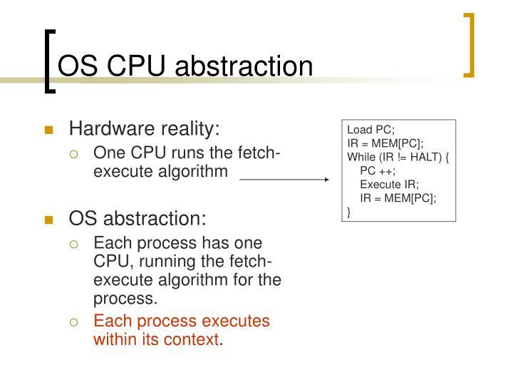 OS CPU abstraction