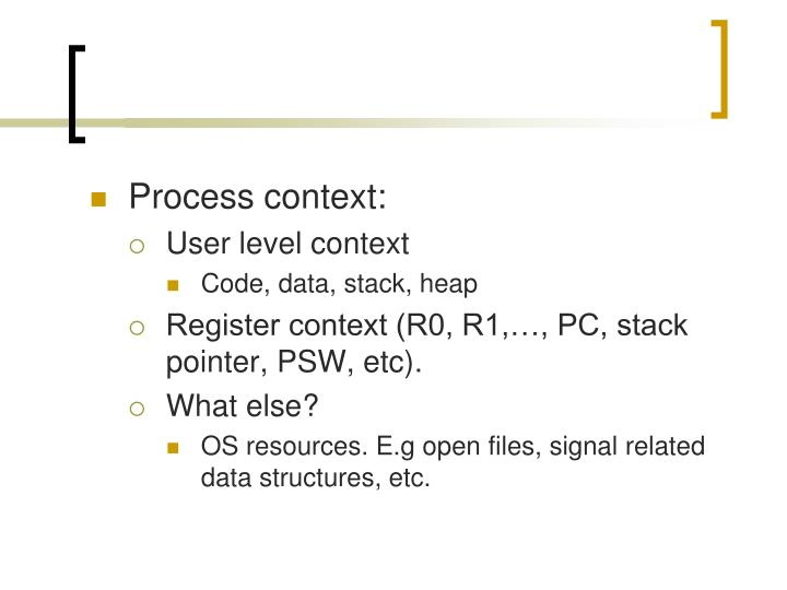 Process context: