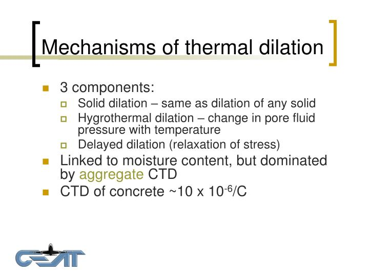 Mechanisms of thermal dilation