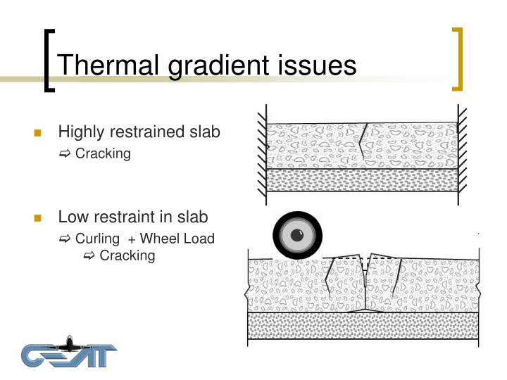 Thermal gradient issues