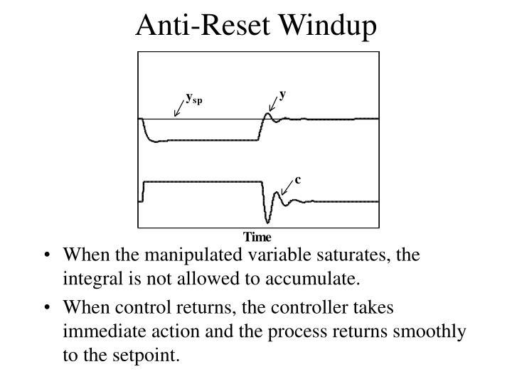 Anti-Reset Windup