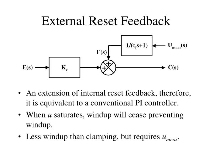 External Reset Feedback