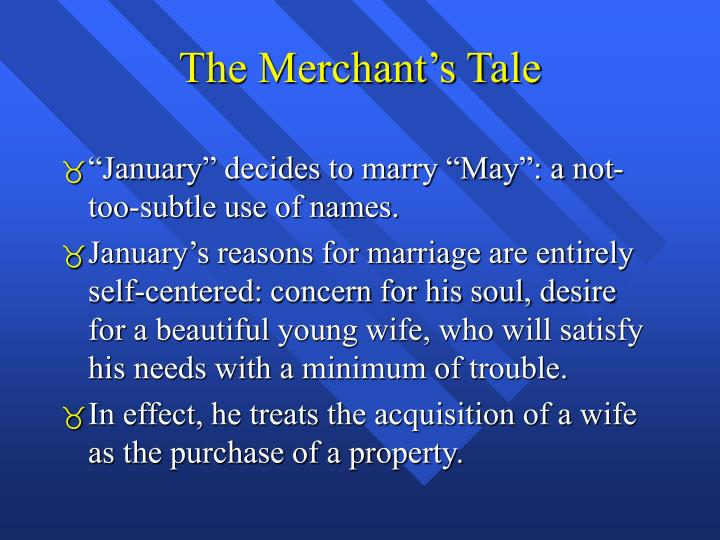 The Merchant's Tale