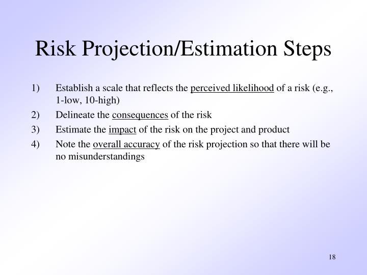 Risk Projection/Estimation Steps