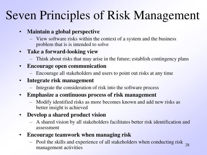 Seven Principles of Risk Management