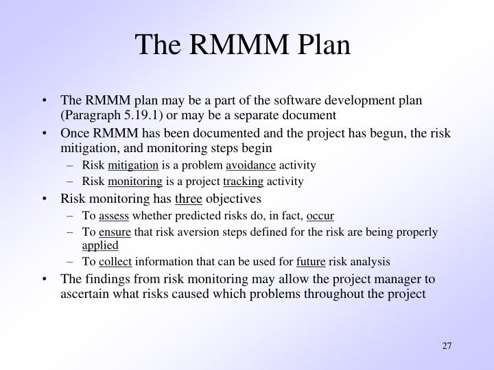 The RMMM Plan