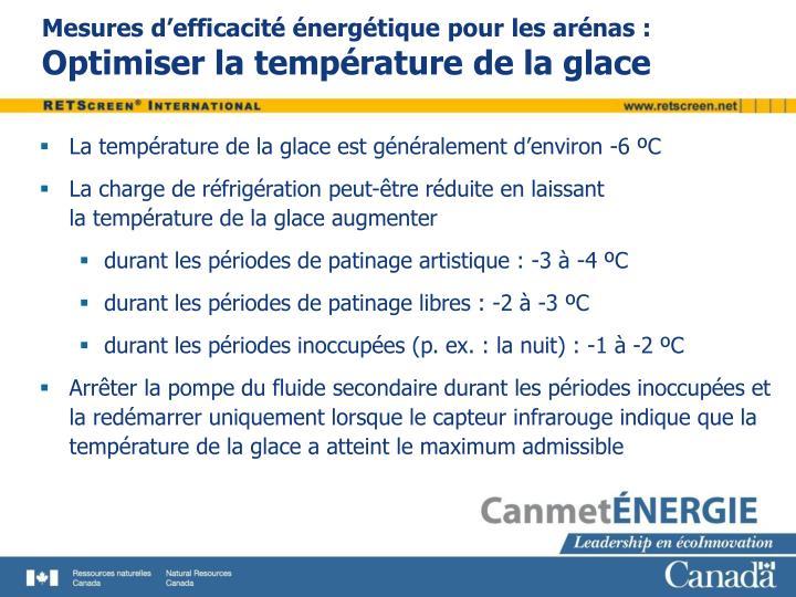 Mesures d'efficacité énergétique pour les arénas :
