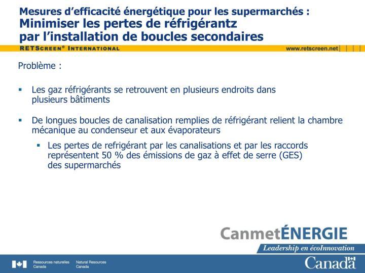 Mesures d'efficacité énergétique pour les supermarchés :