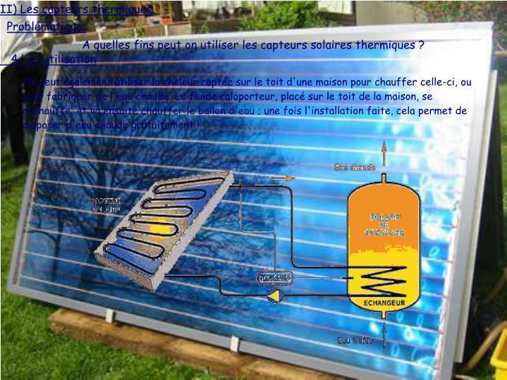 II) Les capteurs thermiques