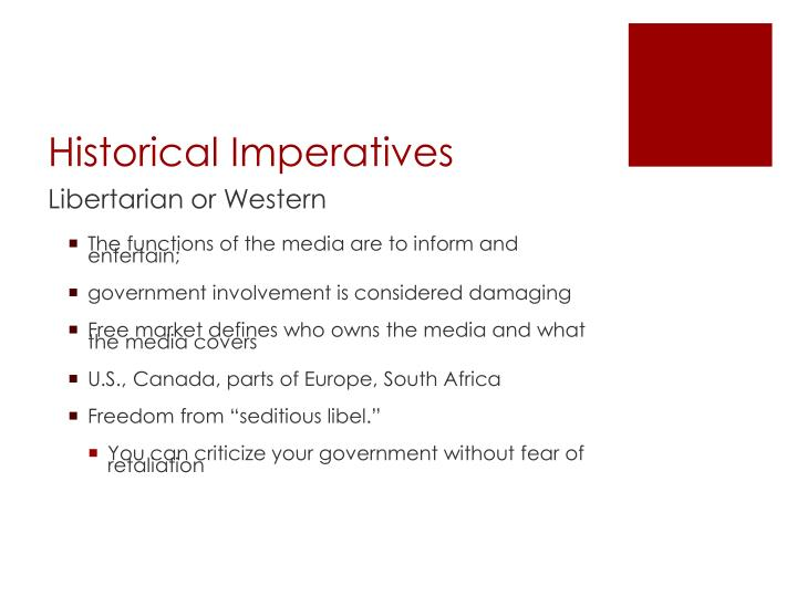 Historical Imperatives