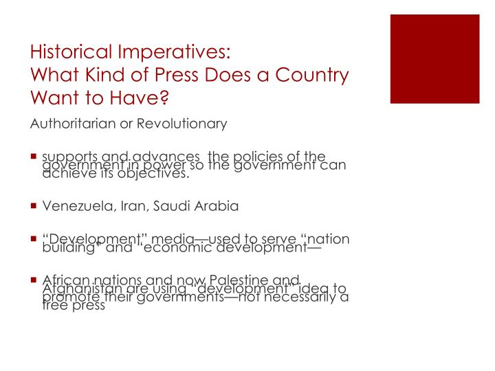 Historical Imperatives: