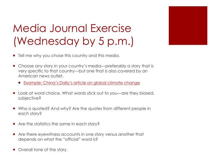 Media Journal Exercise