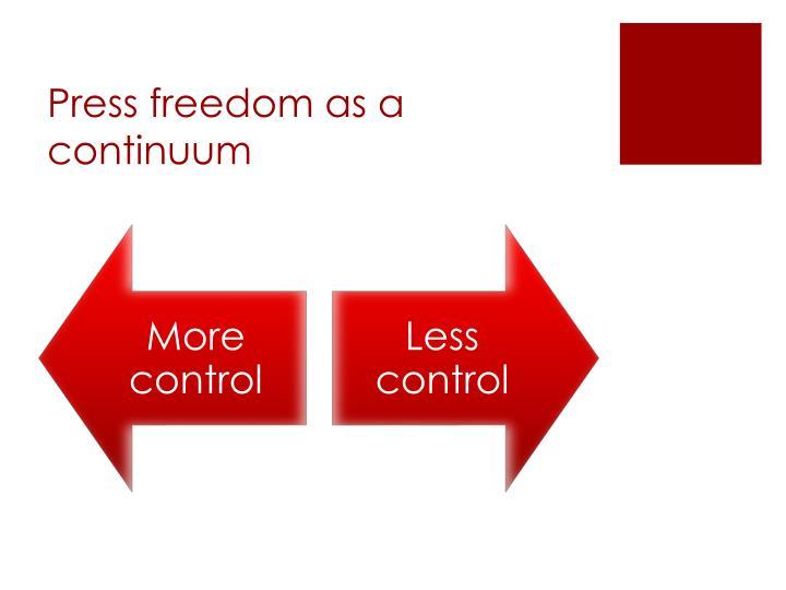 Press freedom as a continuum