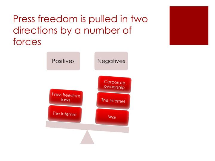Press freedom is pulled in two directions by a number of forces