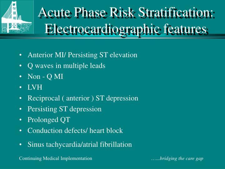 Acute Phase Risk Stratification: