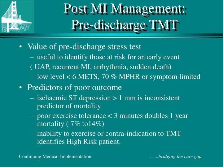 Post MI Management: