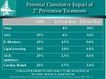 potential cumulative impact of 2 prevention treatments