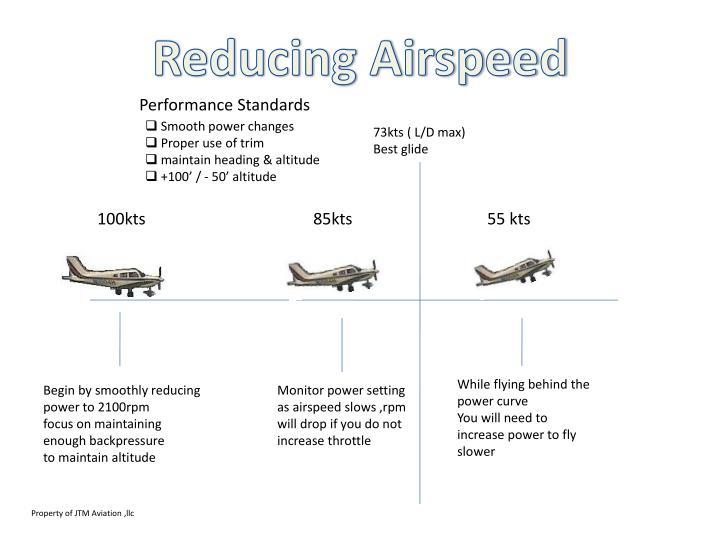 Reducing Airspeed