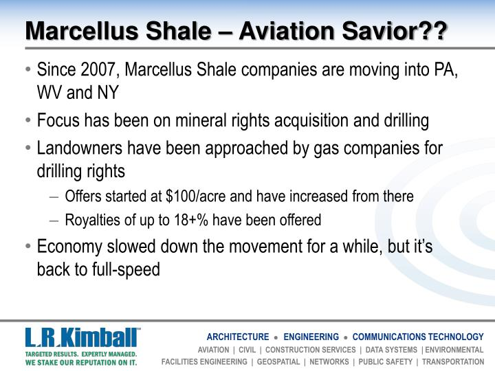 Marcellus Shale – Aviation Savior??