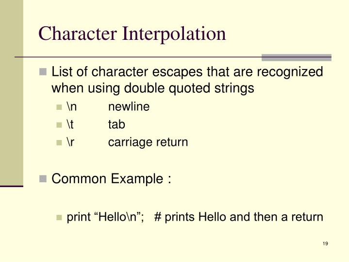 Character Interpolation