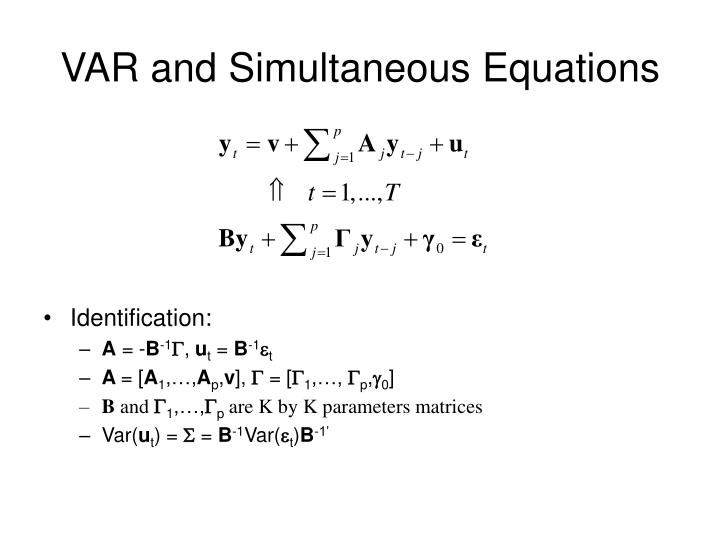 VAR and Simultaneous Equations