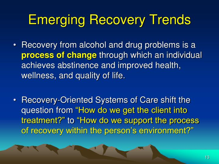Emerging Recovery Trends