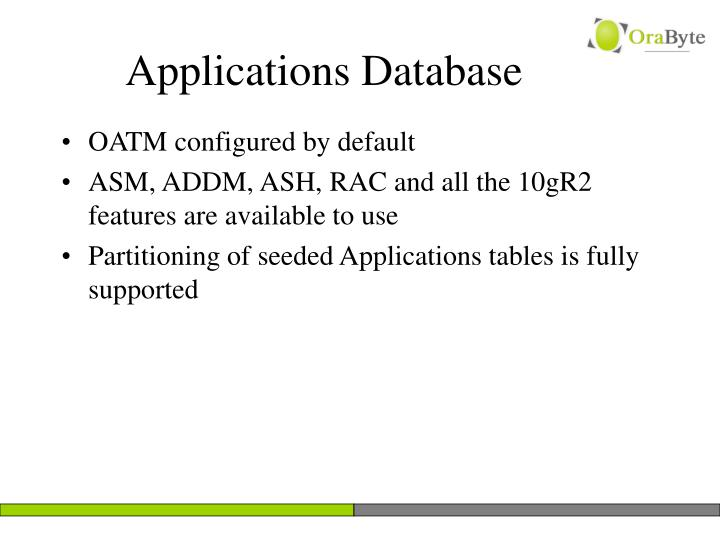 Applications Database
