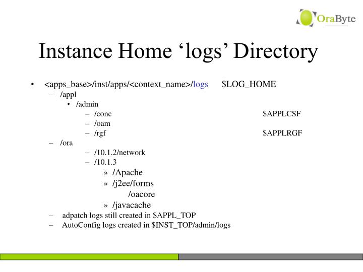 Instance Home 'logs' Directory