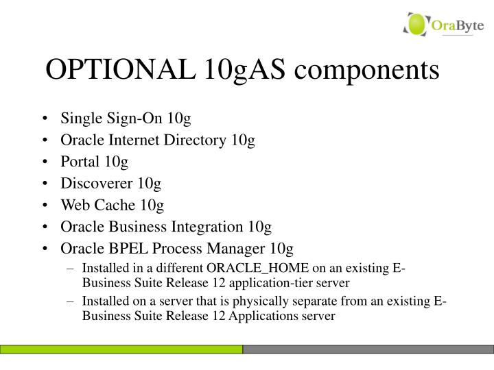 OPTIONAL 10gAS components